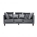 Sofa trzyosobowa tapicerowana szara FENSTAD