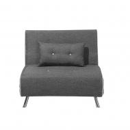 Sofa z funkcją spania ciemnoszara Nebbia