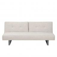 Sofa z funkcją spania tapicerowana jasnobeżowa Canna BLmeble