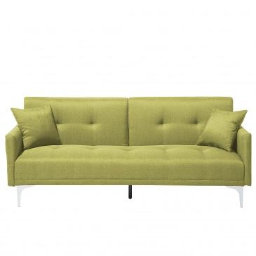 Sofa Z Funkcją Spania Zielona Kanapa Rozkładana Wersalka Eugenia
