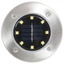Solarne lampy gruntowe, 8 szt., białe LED