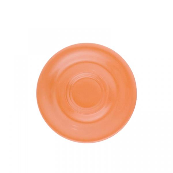 Spodek pod filiżankę lub kubek 16 cm Kahla Pronto Colore pomarańczowy KH-573516A72556C