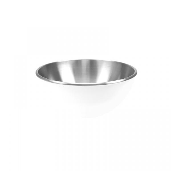 Stalowa miska 16 cm Zak! Design biała 1313-8250