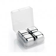 stalowe kostki chłodzace w pudełku, 4 szt., 2,5 x 2,5 x 2,5 cm