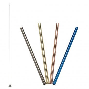 stalowe słomki do napojów, 4 szt., kolorowe, 18 cm