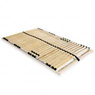 Stelaż do łóżka z 28 listwami, drewno FSC, 7 stref, 100 x 200 cm