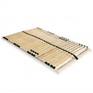 Stelaż do łóżka z 28 listwami, drewno FSC, 7 stref, 120 x 200 cm