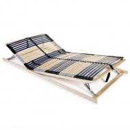 Stelaż do łóżka z 42 listwami, drewno FSC, 7 stref, 120x200 cm
