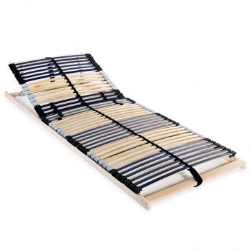 Stelaż Do łóżka Z 42 Listwami Drewno Fsc 7 Stref 90x200 Cm