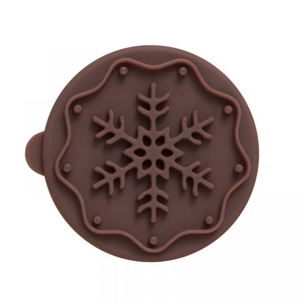 Stempel drewniany do ciastek Śnieżynka Birkmann brązowy 340 282