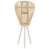 Stojący lampion na świece, bambusowy, naturalny