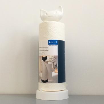 Stojak na ręczniki papierowe Koziol Miaou biały