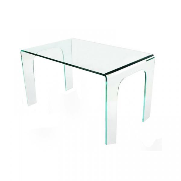Stół do jadalni 150x80x75cm King Home Moderno transparentny szklany DB-008