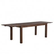 Stół do jadalni drewno ciemnobrązowy 150 x 85 cm 2 przedłużki MAXIMA