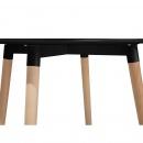 Stół do kuchni czarny - 90 cm -  stół  do jadalni lub salonu - BOVIO