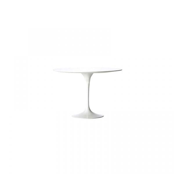 Stół Fiber o120 biały MDF DK-64782