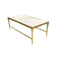 Stół kawowy Ekskluzywny Livo gold/white
