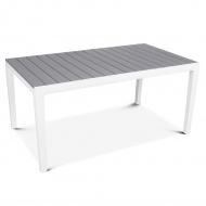 Stół na taras Torino : Kolor - Biały - Jasny szary