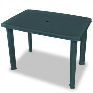 Stół ogrodowy, 101 x 68 x 72 cm, plastik, zielony