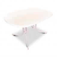 Stół ogrodowy 132x90cm MFG biały