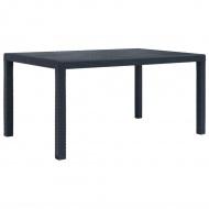 Stół ogrodowy, 150x90x72 cm, plastikowy, antracytowy