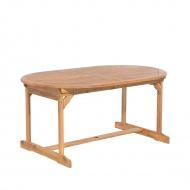 Stół ogrodowy drewniany jasnobrązowy 160/220 x 100 cm rozkładany Olivia BLmeble