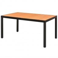 Stół ogrodowy, WPC, aluminium, 150 x 90 x 74 cm, brąz