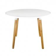 Stół okragły do jadalni 100cm D2 Copine biały
