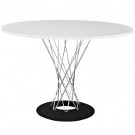 Stół okrągły do jadalni 100cm D2 Cyklon biały