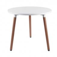 Stół okrągły do jadalni 80cm D2 Copine biały