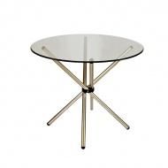 Stół okrągły do jadalni 90cm D2 Ufo szklany