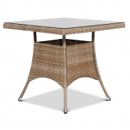 Stół z technorattanu Lugo 80x80 : Kolor - Modern Beige