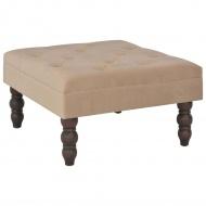 Stołek, beżowy, 60x60x36 cm, aksamit