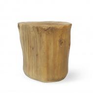 Stołek Stump King Home 43cm brązowy