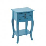 Stolik 40x31x68 cm Miloo Home Fiorella niebieski