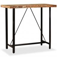 Stolik barowy z litego drewna odzyskanego, 120 x 60 x 107 cm