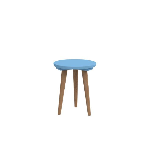 Stolik D2 Bergen mały z niebieskim blatem DK-64090