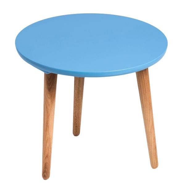 Stolik D2 Bergen średni z niebieskim blatem DK-64093