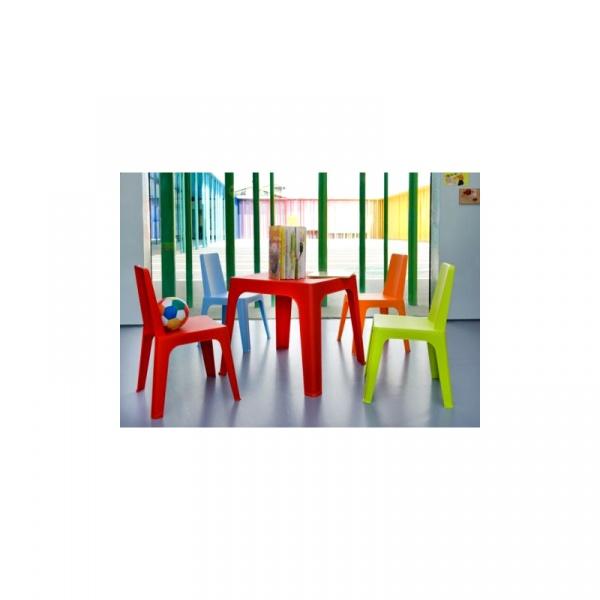 Stolik D2 Julieta czerwony blat biały, DK-28687