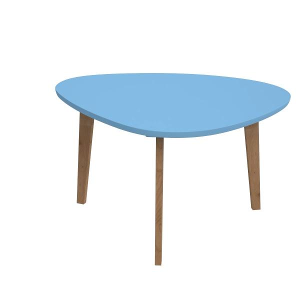 Stolik D2 Norman trójkątny z niebieskim bla tem DK-64070