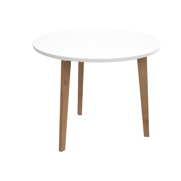 Stolik D2 Oslo z białym blatem DK-64015