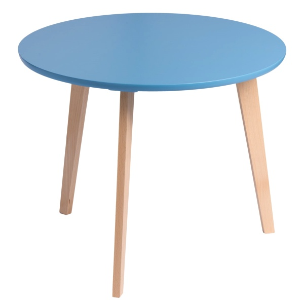 Stolik D2 Oslo z niebieskim blatem DK-64030