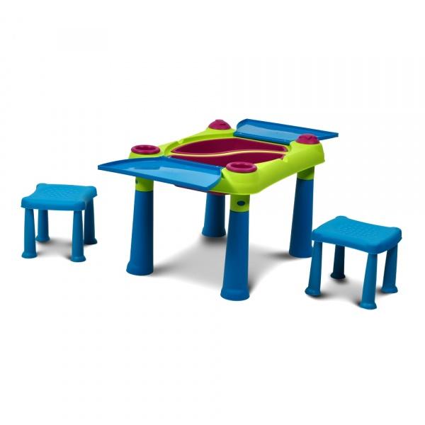 Stolik edukacyjny 56x79x50cm Bazkar CREATIVE TABLE niebieski 000331