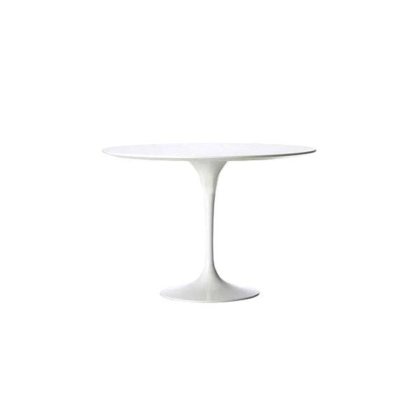Stolik Fiber o60 biały, włókno szklane DK-9774
