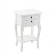Stolik Fiorella 40x31cm Miloo Home Wabi Sabi biały