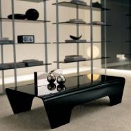 Stolik kawowy 120x60x37cm King Home Ricco szkło czarny