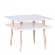 Stolik kawowy 55x55cm średni Ragaba Square biały
