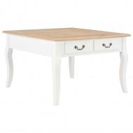 Stolik kawowy biały drewniany