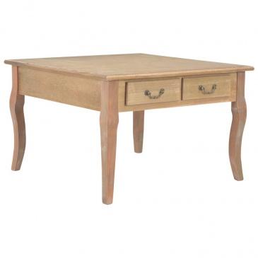 Stolik kawowy, brązowy, 80x80x50 cm, drewniany