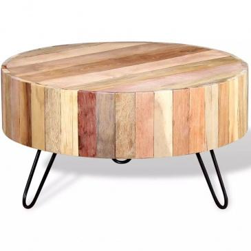 Stolik kawowy z drewna odzyskanego